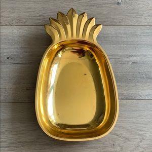 Pineapple brass bowl